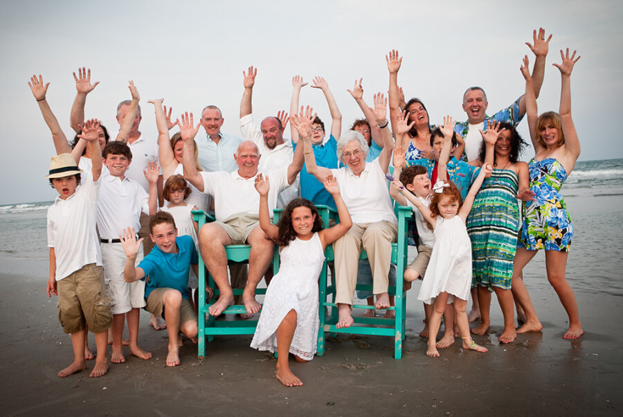 Large Family Reunion Topsail Island