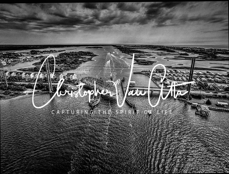 Topsail Island Swing Bridge Photo from the air