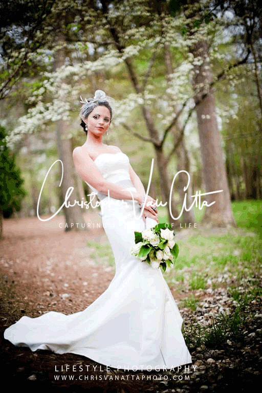 Bride Portrait in the woods
